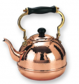 Decor Copper Hammered Teakettle with Black Wood Handle