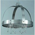 Dome Pot Rack Copper Satin Nickel