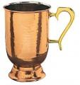 Copper Hammered Tankard set of 6