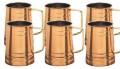 Copper Tankard Mugs  SET OF 6