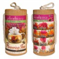 Flowering Green Tea 12 Count Variety Pack with Gift Canister set of 2