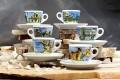 The Italian City Scenes Espresso Cups  Set of 6