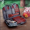 19 piece BBQ set in carrying case