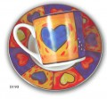 Espresso demitasse set of 6 gift box amore design