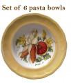 Harvest Pasta Bowls  set of 6